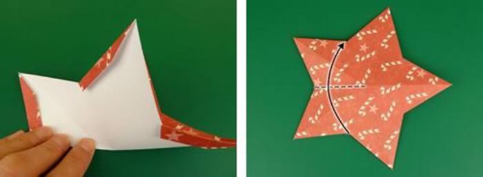 fai una stella a cinque punte dal foglio