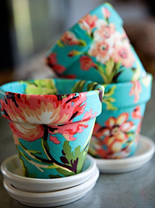 vasi di fiori con le tue mani
