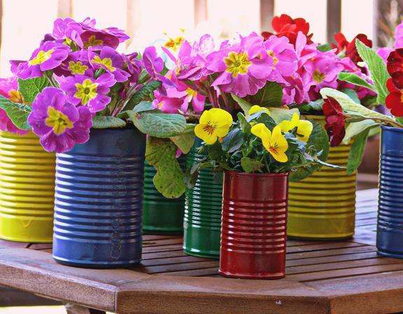vasi di fiori da bottiglie di plastica fai da te