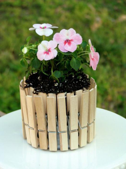 vasi di fiori fai da te foto