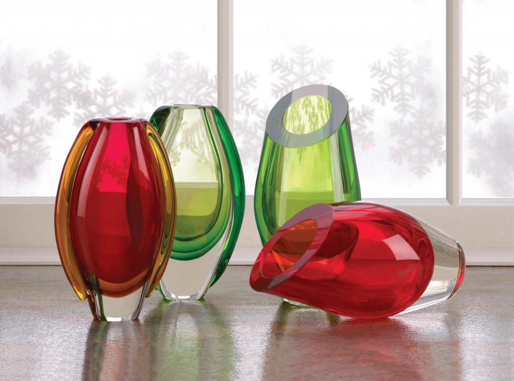 vasi di vetro colorato