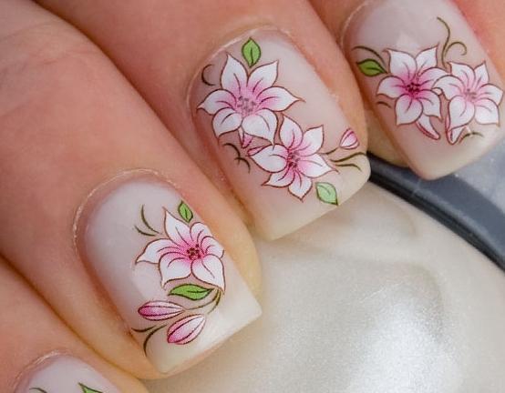 dizajn cvijeća za nokte