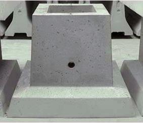 Il fondamento del tipo stakanny sotto colonne.