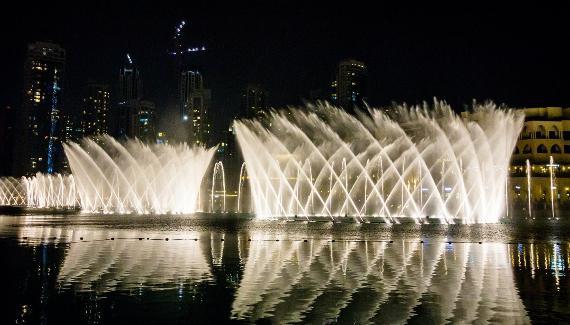 fontana musicale a Dubai