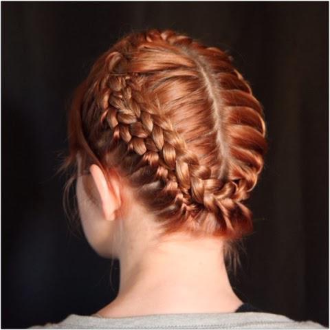 francuskie warkocze dla średnich włosów