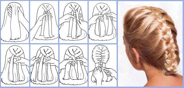 francuskie warkocze na długie włosy