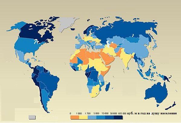 svježe vode u svijetu