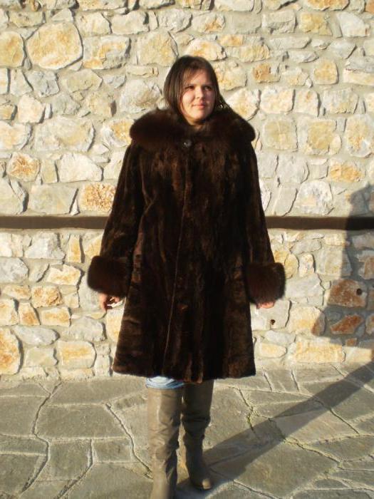 Cappotti di pelliccia di castoro tranciato