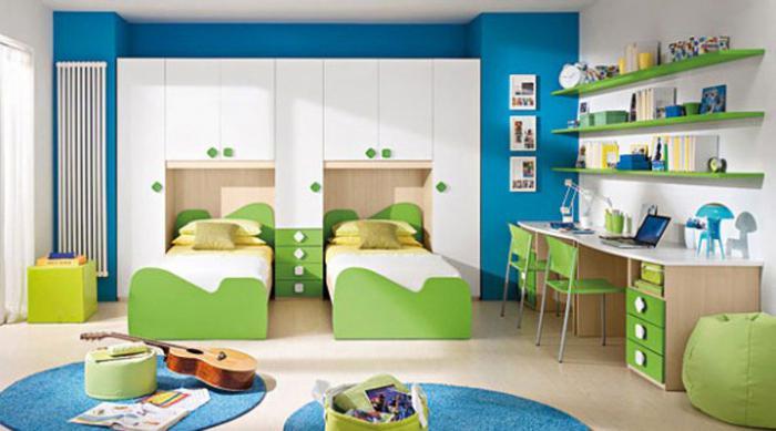 mobili per la camera dei bambini per due