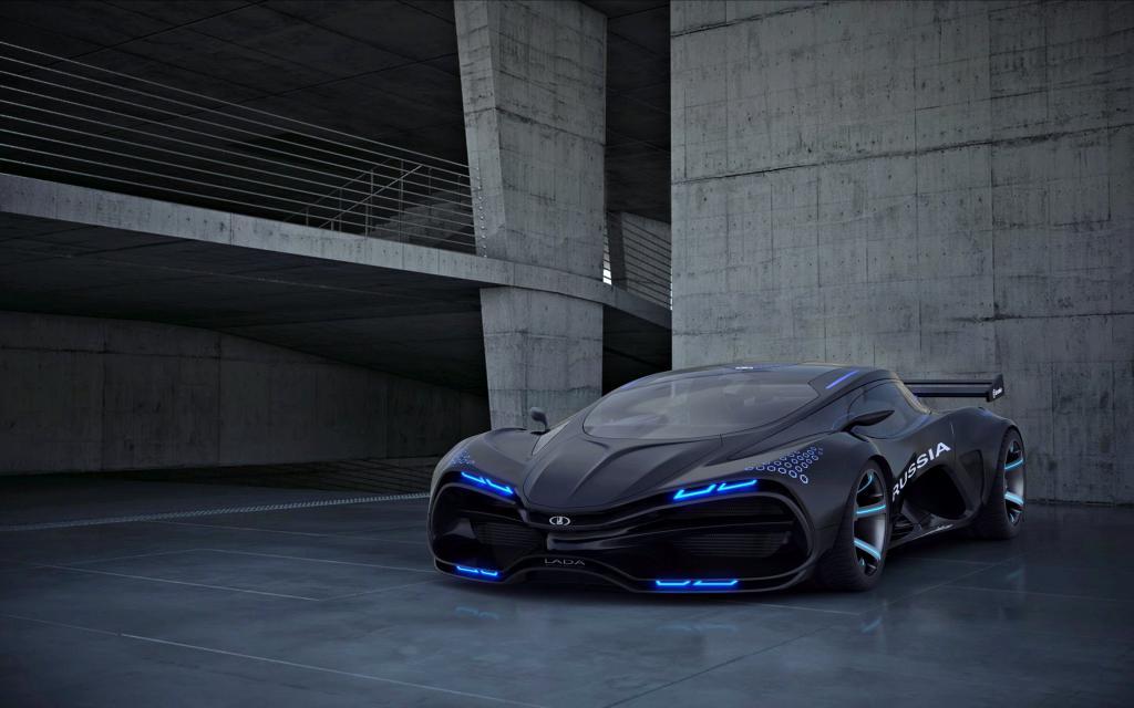 futuristický model