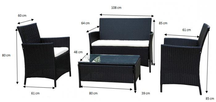 mobili da giardino in vimini