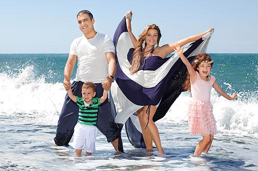 Garik Martirosyan con la sua famiglia
