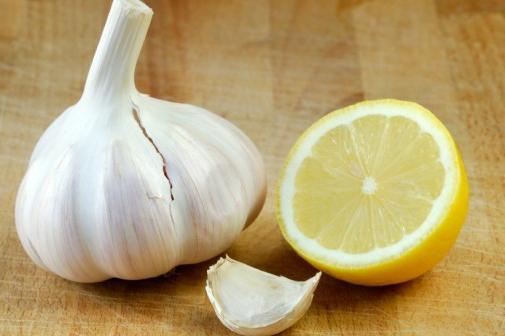 aglio con limone