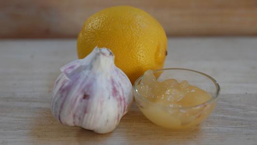 aglio con limone e miele