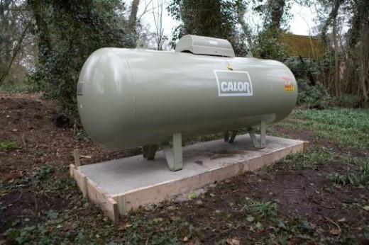 gas del serbatoio del gas