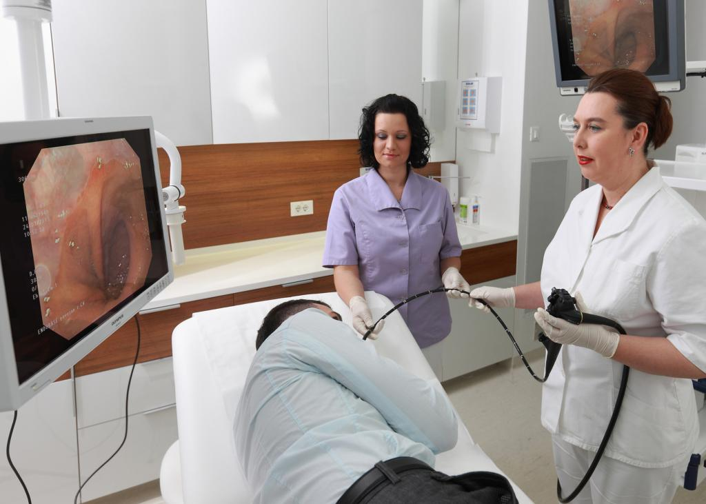 Провеждане на гастроскопия