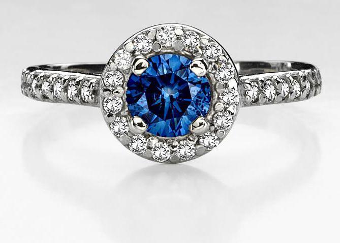 син диамантен пръстен