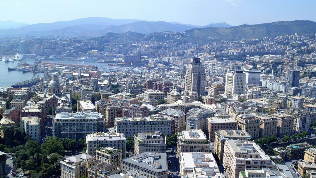 Genova vista a volo d'uccello