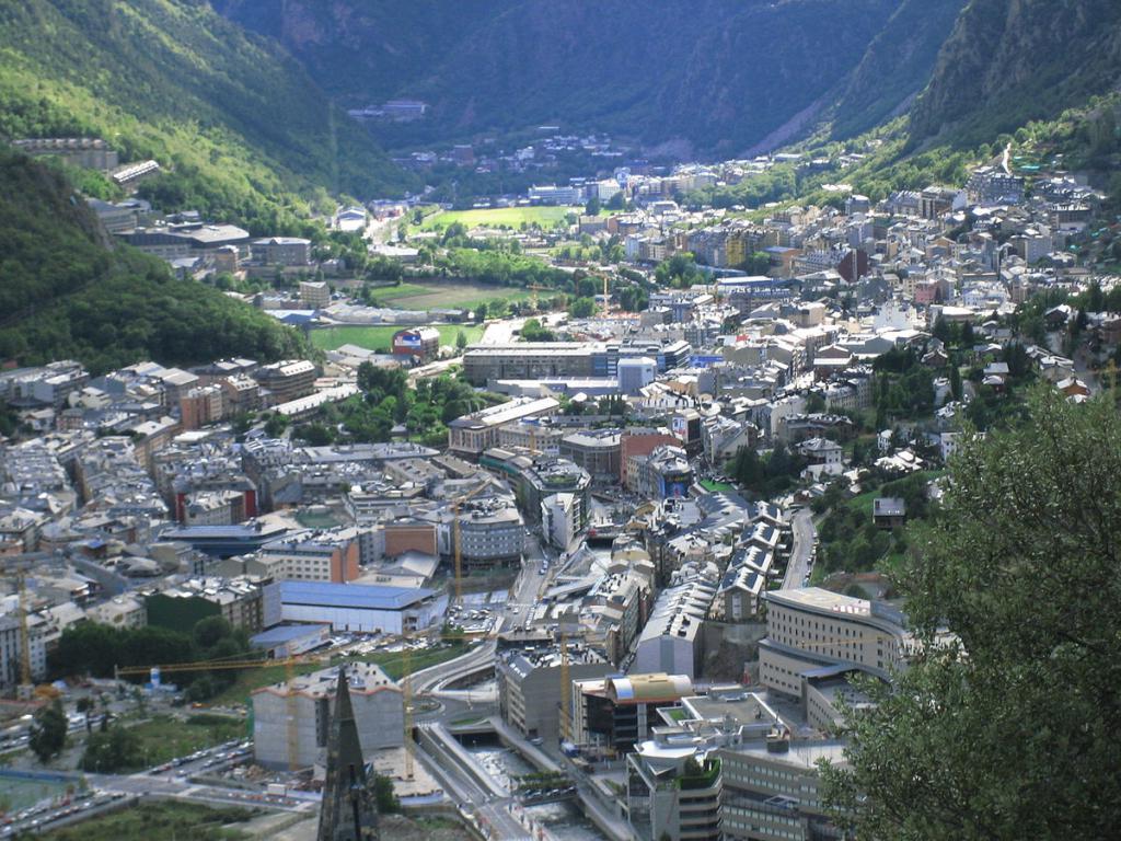 vista della capitale di Andorra