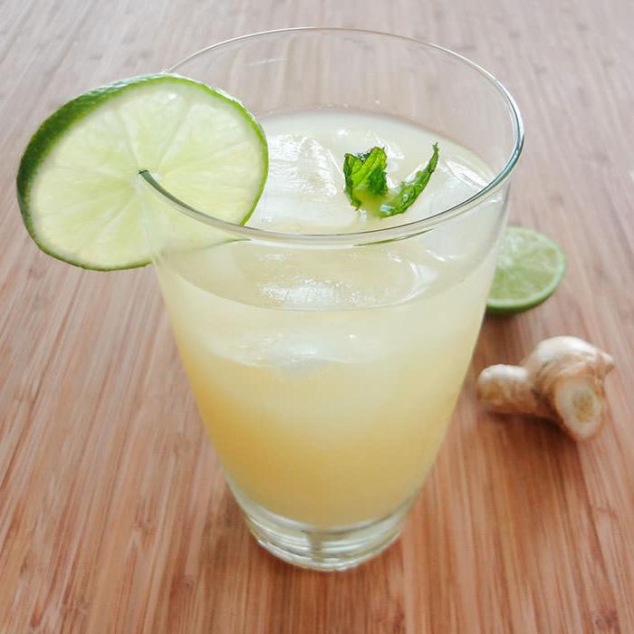 рецепт за ђумбир лимунаду са фотографијама