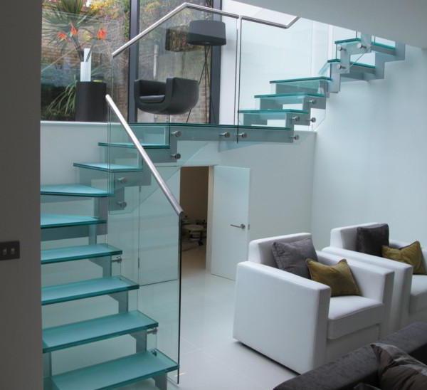 scale di vetro per la casa