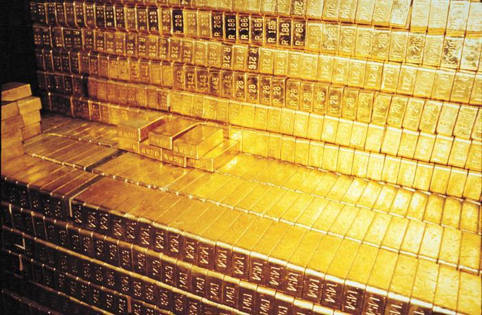foto di lingotti d'oro