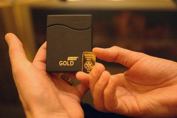 misure di lingotti d'oro