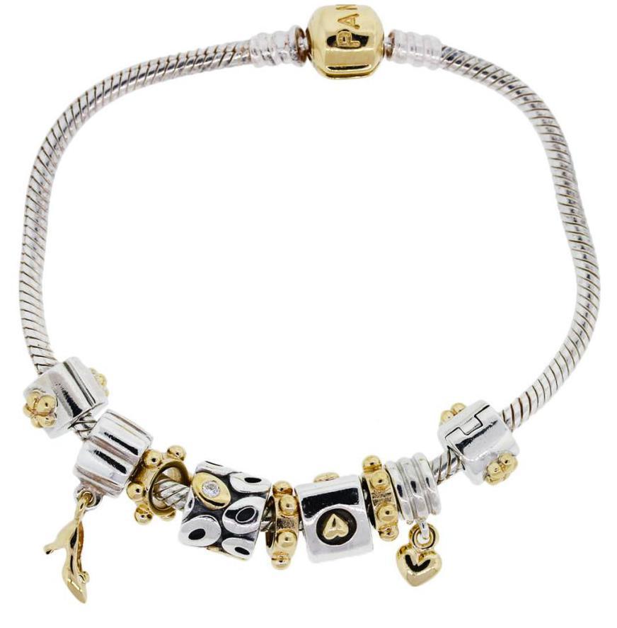 Гривна със злато и сребро Pandora