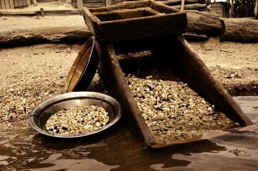 v rudarstvu zlata v Rusiji vodi