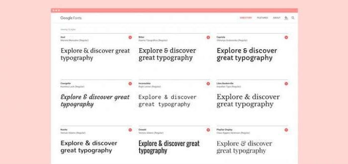 Google fontovi