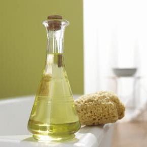 applicazione di olio di semi d'uva
