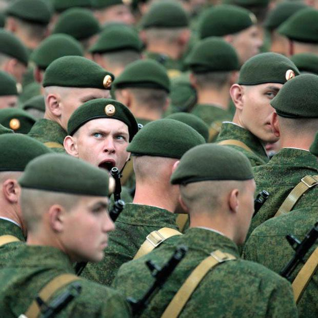zelene beretke vojakov Rusije