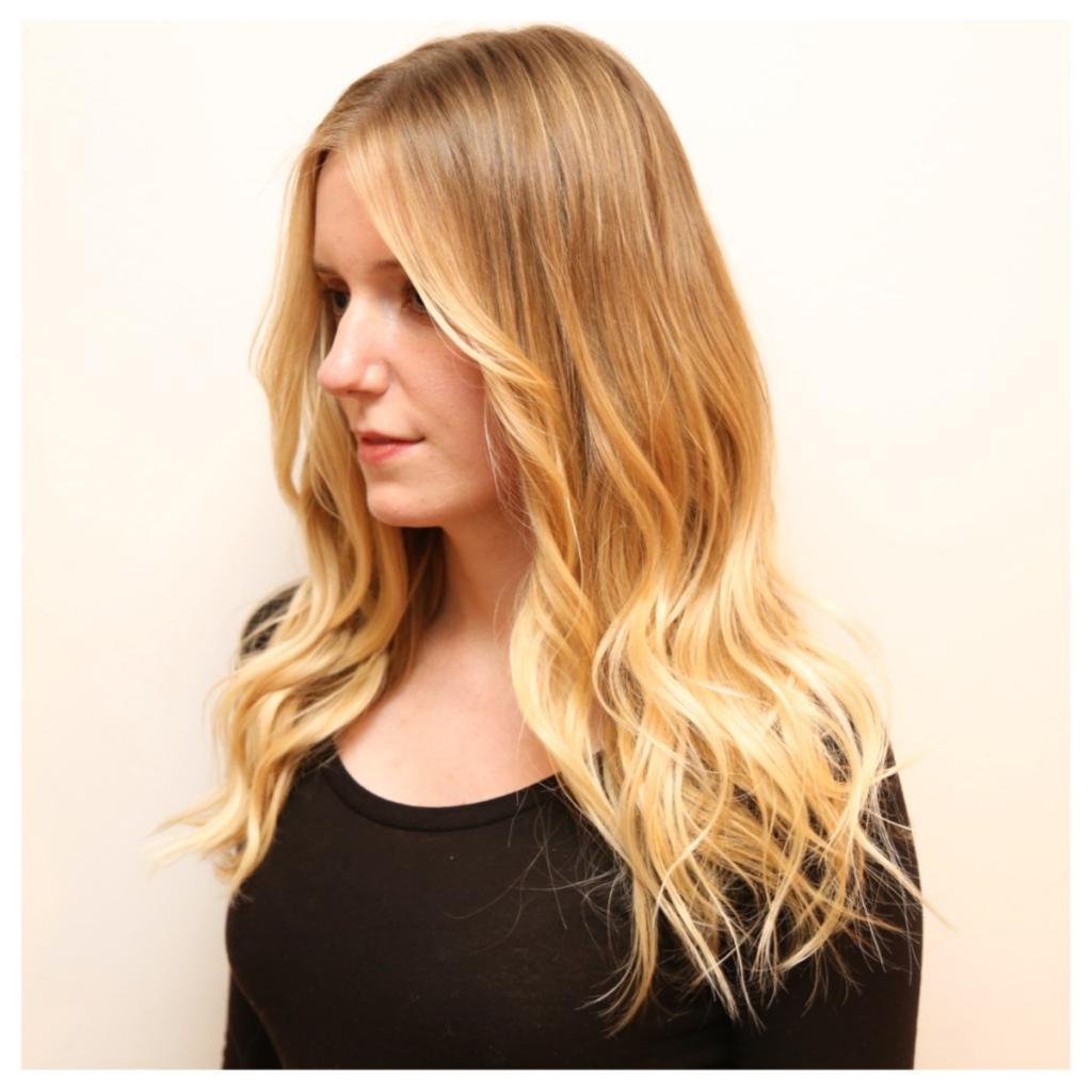 duga kosa blonding
