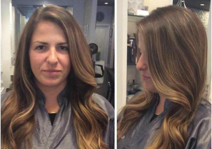 lasje, ki delajo fotografijo pred in po pregledih