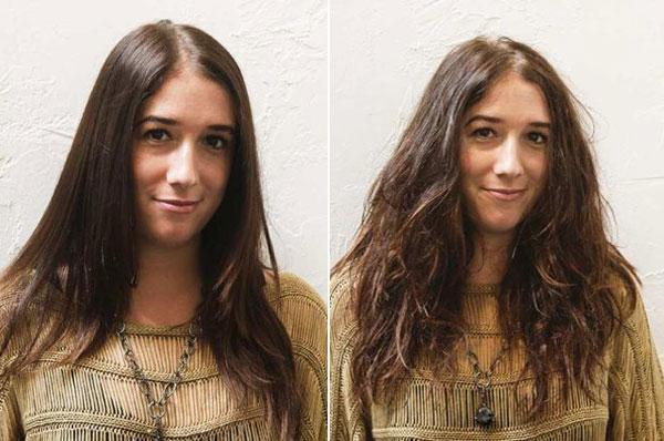 restauro di capelli secchi e danneggiati a casa