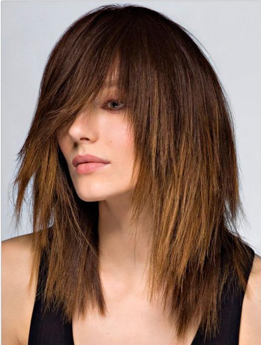 шишање каскада за дугу косу са шишкама