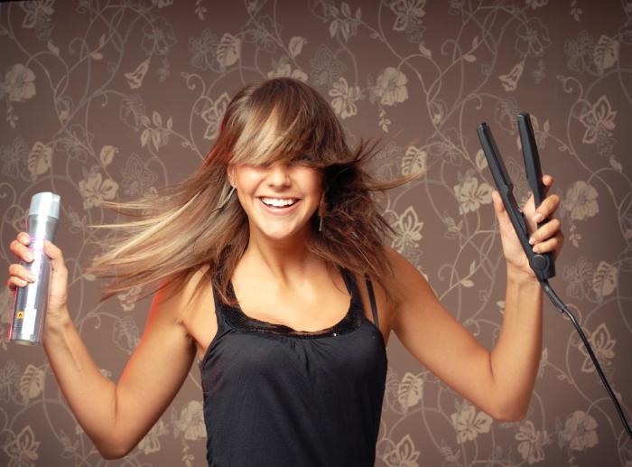 brokatowy lakier do włosów