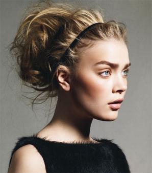 wysokie fryzury dla średnich włosów