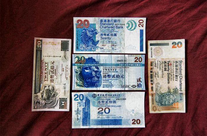 varietà di dollari di Hong Kong