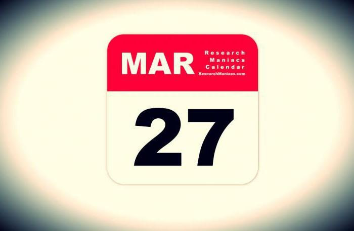 27. ožujka
