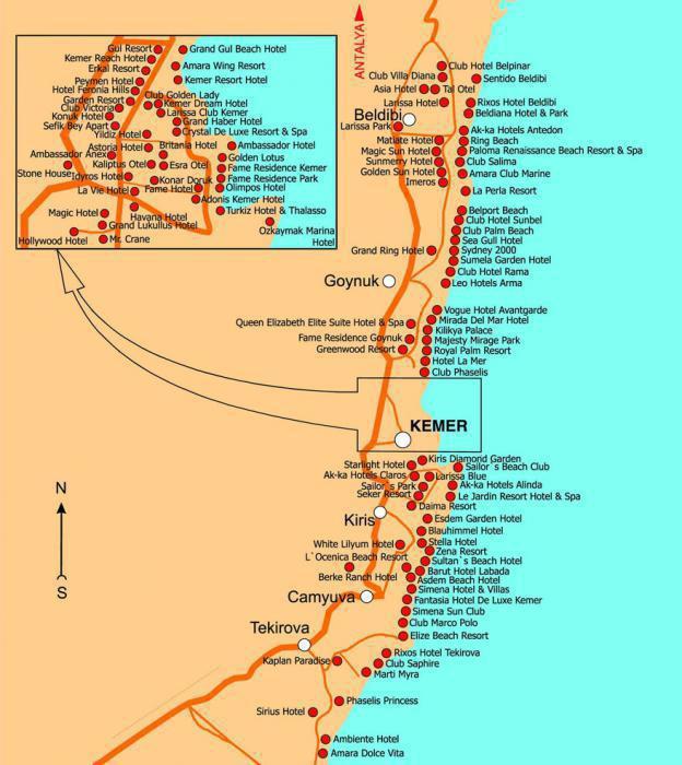 derin hotel 3 sulla mappa
