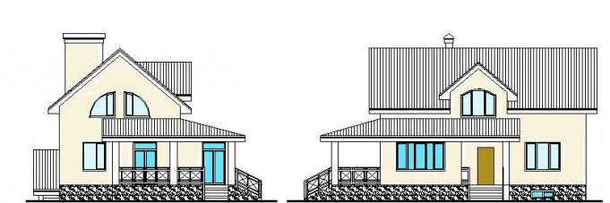 едноетажна къща от газосиликатни блокове