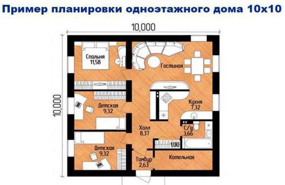 projekt kuća 10 po 10 jednokatnica