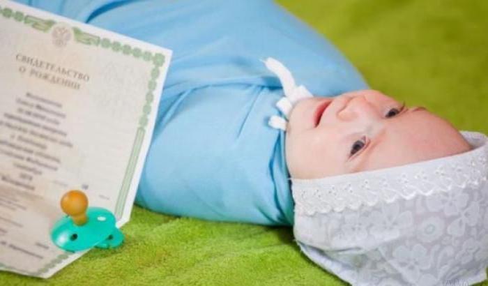 ottenere un certificato di nascita