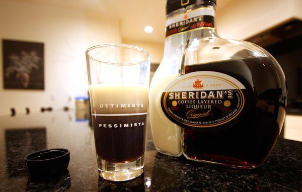Sheridans кафе ликьор двуслойни как да се пие