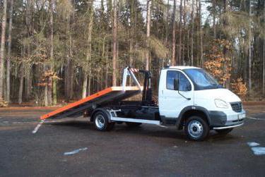 ciężarówka z gazelą