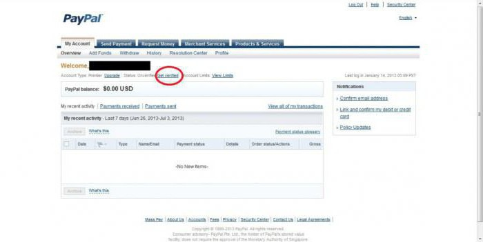 come vedere il numero di conto PayPal