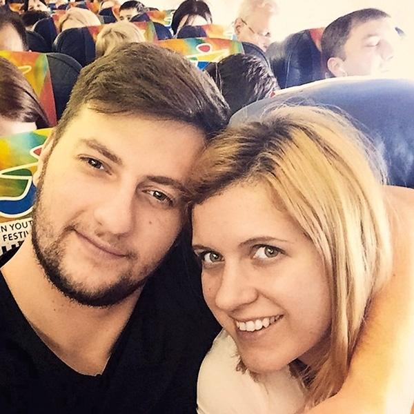 Anastasia Denisova con suo marito