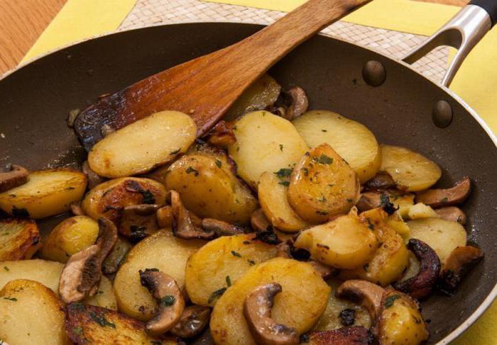 quante calorie in patate con funghi
