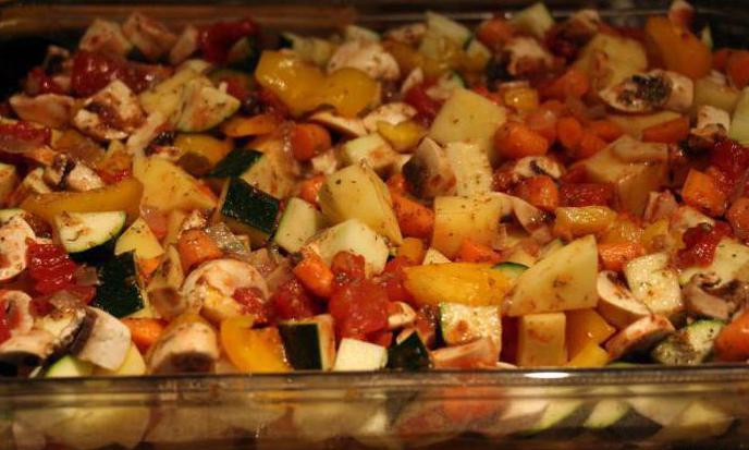 warzywa z kurczakiem w piekarniku upieczone przepisy kulinarne